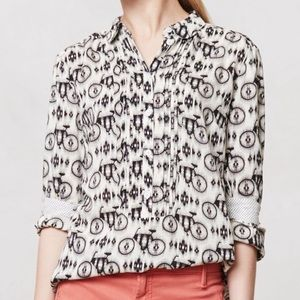 Maeve Anthropologie Anni Bicycle Popover Top